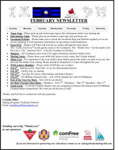 GSC February Newsletter 2017-1